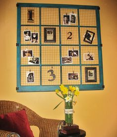 This is would be a great wall piece for the guest room! Or even in the kitchen instead of our boring peg board.
