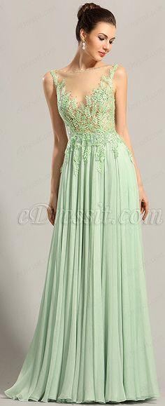 eDressit Sleeveless Embroidery Bodice Evening Dress Formal Gown:Sexy embroidery bodice with sparkles