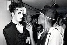 Boy George and Grace Jones