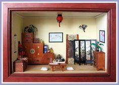 Vitrine miniature - Chine