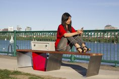 Solar-Powered Park Bench Charges Phones
