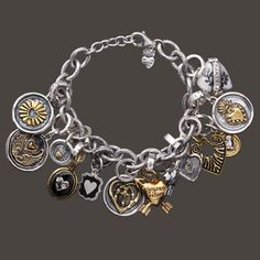 Waxing poetic bracelet and charms