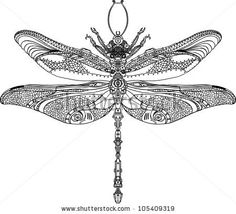 stock vector : Abstract Animal: Steampunk dragonfly