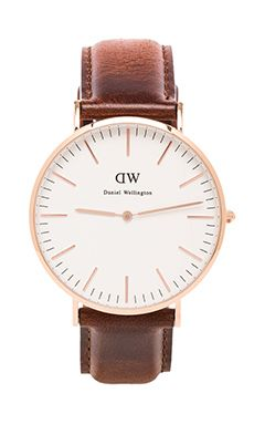 Daniel Wellington St Andrews 40mm in Rosegold | REVOLVE