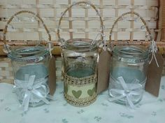 Decorative Karma Jam Jar Tea lights
