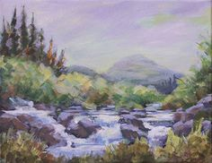 """NJ Busse Fine Art: Impressionist Landscape Painting, Water,Stream """"UP ON SCOFIELD PASS"""" by Painter of the American West, Nancee Jean Busse"""
