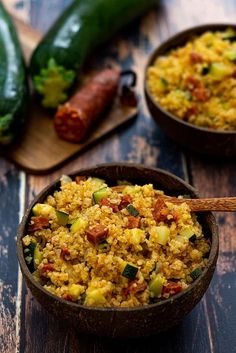 Bulgur risotto with zucchini and chorizo ​​- Amandine Cooking - Recettes Weight Watchers (smartpoint) - Recipes Healthy Recipes On A Budget, Budget Meals, Healthy Breakfast Recipes, Brunch Recipes, Healthy Dinner Recipes, Beef Recipes, Vegetarian Recipes, Cooking Recipes, Zucchini