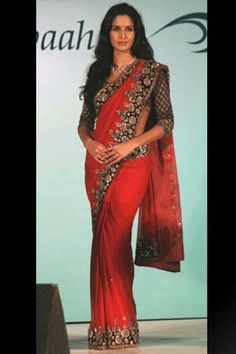 Sarees on the red carpet