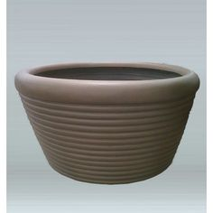 Allied Molded Products Round Pot Planter Color: Rosewood