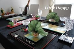 Japanese style table setting new year