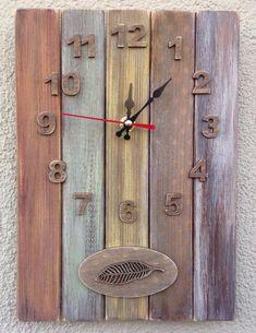 Wood Crafts, Diy And Crafts, Paper Crafts, Decoupage, Diy Clock, Wood Clocks, Handmade Rugs, Wood Art, Ideas Vintage