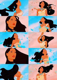 Screencap meme: ➝ Pocahontas + Hair porn