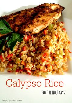 Calypso Rice for the Holidays | Add a touch of the Carribean to your dinner. AD MinuteRiceSweepstakes
