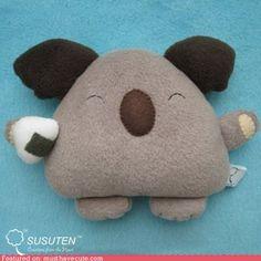 Koalas Love Sushi pillow
