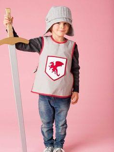 Der Ritter ist ruckzuck fertig – mit Helm und Rüstung. 144-012016-B, burda style, Ritter, Nähen