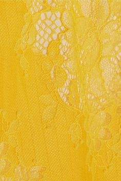 Carven - Belted Lace Skirt - Yellow - FR38