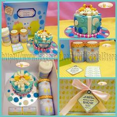 M Hampers: 1 Custom Hardbox (30x30cmx15cm) 1 3D Cake (12cm) 2 Bottles of Candy 1 Towel Announcement Card  visit www.facebook.com/GiftCastelStore