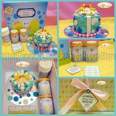 M Hampers: 1 Custom Hardbox (30x30cmx15cm) 1 3D Cake (12cm) 2 Bottles of Candy 1 Towel Announcement Card  visit www.facebook.com/GiftCastelStore