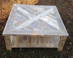 Handcrafted Squared Pallet Coffee Table | Pallet Furniture DIY
