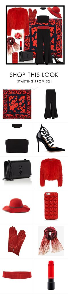"""""""Every room needs a splash of red..."""" by tiffanie22 ❤ liked on Polyvore featuring McQ by Alexander McQueen, Peter Pilotto, Gianvito Rossi, Yves Saint Laurent, Alexander McQueen, Scala, Marc Jacobs, Dents, White House Black Market and Valentino"""