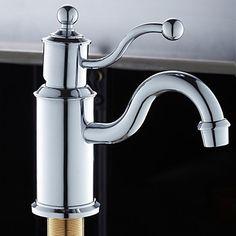 Zeitgenssisches Design Chrom-Finish Waschbecken Wasserhahn