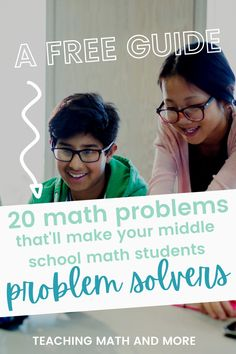 Do your students struggle reading and answering word problems? Download the FREE guide and worksheets to help your students become math problem solvers. The problem solving guide will help your kids learn what to look for when solving math questions. Grab your free math worksheets and answer keys today! 7th Grade Classroom, 7th Grade Math, Student Problems, Math Word Problems, Apps For Teaching, Teaching Math, Math Problem Solver, Free Math Worksheets, Math Questions