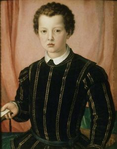 Agnolo Bronzino - Giovanni de' Medici painted c. Giovanni de'Medici the second son of Cosimo I and Eleanora of Toledo, was intended for a career in the Church: he was created deacon in Cardinal in 1560 and Archbishop of Pisa in Old Portraits, Portrait Art, Family Portraits, Italian Renaissance, Renaissance Art, European History, Art History, Giovanni De Medici, Voyage Florence