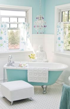 Blue and White Bathroom - Summertime Blue - Calming - Bathrooms and More Store