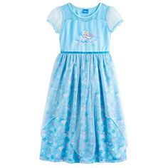 She ll feel fancy in her own fantasyland wearing this girls  Disney s  Frozen Elsa nightgown. 4f8bf8016