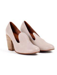 Blush Loafer Heels