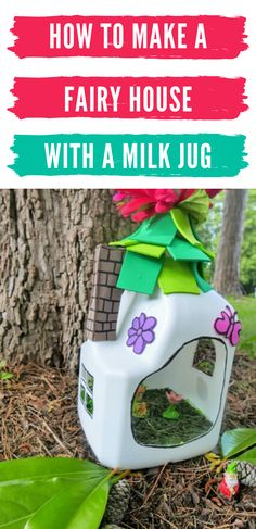 Fun Crafts For Kids, Easy Crafts For Kids, Easy Diy Crafts, Toddler Crafts, Diy For Kids, Crafts To Make, How To Make A Fairy House Kids, Fairy Houses Kids, Fairy House Crafts