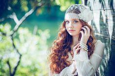 HARLOW  Lace Juliet Veil Juliet Lace Cap by BlairNadeauMillinery