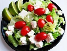 Salad - grape tomatoes, feta cheese, romaine lettuce