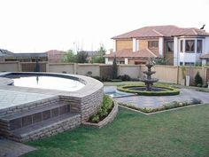 Pool Contractors, Garden Landscaping, Pond, Garden Design, Swimming Pools, Pretoria, Patio, Mansions
