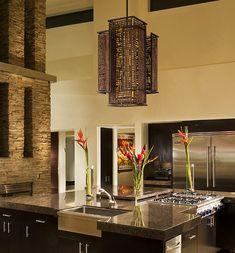 Contemporary Bronze Iron Shoji Pendant Asian Inspired Chandelier Chandeliers New York We Got Lites Kiva Lighting