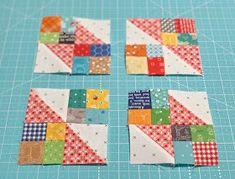 Bee In My Bonnet: Vintage Block Along - Week 30 - Leftovers Block! Scrappy Quilt Patterns, Quilt Square Patterns, Quilt Blocks, Patch Quilt, Scrappy Quilts, Easy Quilts, Mini Quilts, Star Quilts, Half Square Triangle Quilts