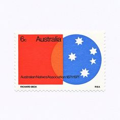 Australian Natives' Association 1871—1971 (6c). Australia, 1971. Design: Richard Beck. #mnh #graphilately