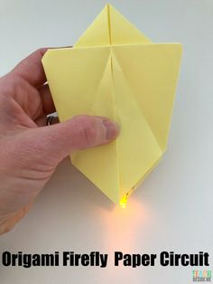 Combine Art, Technology and nature in the STEM Origami Firefly Paper Circuit project for kids! It's an easy and fun hands-on learning activity! Stem Projects For Kids, Stem For Kids, Crafts For Kids, Origami, Simple Circuit, Circuit Projects, Programming For Kids, Bugs And Insects, Paper Folding