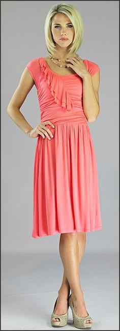 Ellie Dress - Coral-Ellie Coral Dress