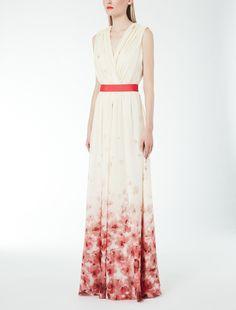 Silk georgette dress MaxMara maxi