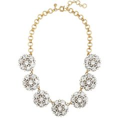 J.Crew Circular petals necklace ($138) ❤ liked on Polyvore featuring jewelry, necklaces, accessories, colares, collares, j crew jewelry, adjustable necklace, j crew jewellery, collar necklace and j.crew necklace