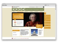 Redesigned Indiana University's School of Public and Enviornmental Affair's website