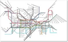 Displacement vector of the London Underground map London Girls, London Transport, Map Vector, London Underground, Take Me Home, Cartography, Data Visualization, Stencils, London