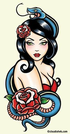 Image result for pin up tattoo