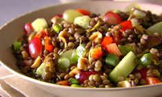 You'll find the ultimate Giada De Laurentiis Italian Lentil Salad recipe and even more incredible feasts waiting to be devoured right here on Food Network UK. Yummy Recipes, Clean Eating Recipes, Whole Food Recipes, Vegetarian Recipes, Cooking Recipes, Healthy Recipes, Dishes Recipes, Clean Foods, Cooking Food
