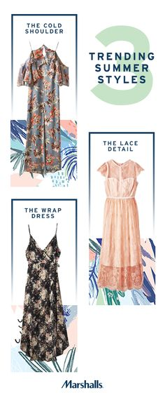 Stock your closet with the latest must-have dresses from Marshalls. Our racks are loaded with this season's hottest styles – flirty floral prints, cold shoulder cuts and intricate lace details. Save on all the latest fashion trends today.