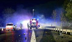 Sechs Tage alter Porsche geht in Flammen auf - Insassen erleiden Brandverletzungen - München