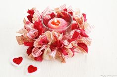 Primitive Valentine Crafts   Country Candle Ring for Valentine's Day   THE JOY OF CAKING