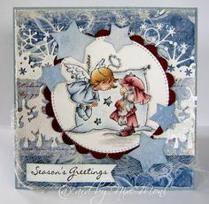 Lili of the Valley Holiday Cards, Christmas Cards, Christmas Nativity, Christmas Time, Card Making Designs, Winter Fairy, Angel Cards, 3d Cards, Christmas Animals