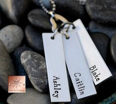 Hand Stamped Mommy Necklace  Mother's by HeartAndSolDesigns, $38.00